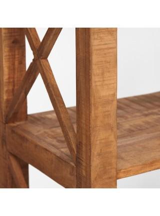 Шкаф книжный Secret de Maison SCHLOSS (mod. G04400) дерево акация, 150х41х200см, хела натуральный винтаж