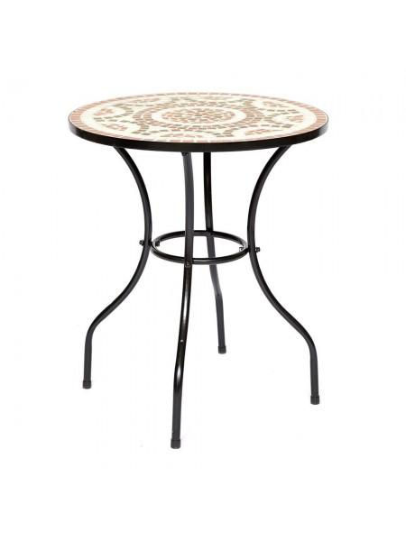 """Стол Secret de Maison ROMEO (mod. PL08-1070) металл, 60х72см, черный/плитка """"ROMANO"""""""