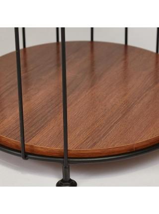 Этажерка Secret De Maison ULMER ( mod. 351) металл/дерево гевея, 41х41х153см, черный/коричневый
