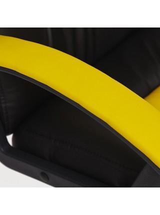 Кресло NEO (2) кож/зам, черный/жёлтый, 36-6/36-14