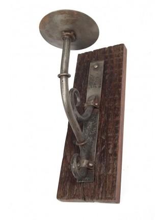 Подсвечник Secret De Maison CASTRO ( mod. KI-5347 ) металл/дерево манго, 38х13см, отступ от стены 25см, коричневый
