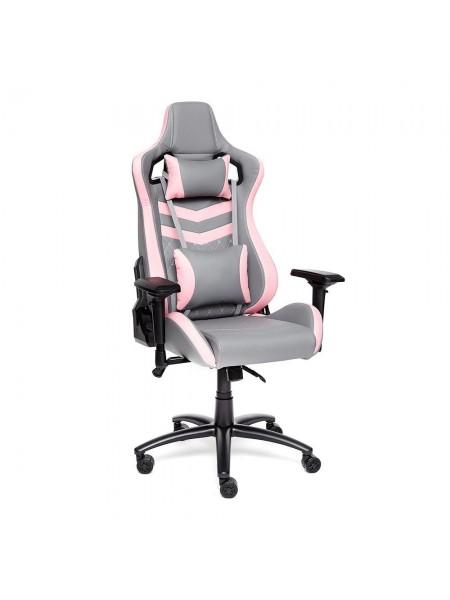 Кресло iPinky кож/зам, серый/розовый