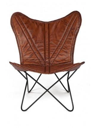 Кресло Secret De Maison NEWTON ( mod. M-8105 ) металл/кожа буйвола, 68*75*91, коричневый