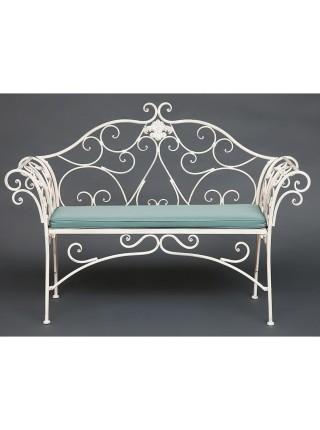 Скамья Secret de Maison BEAUJOLAIS (mod. PL08-8574) металл, 136х46х96см, белый антик (antique white)