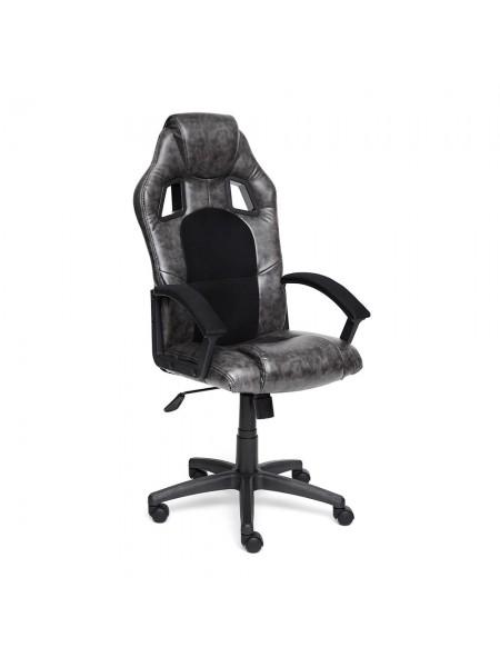 Кресло DRIVER кож/зам/ткань, серый/черный, 2 TONE/11