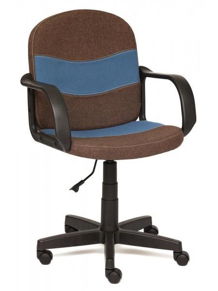 Кресло BAGGI ткань, коричневый/синий, 3М7-147/С24