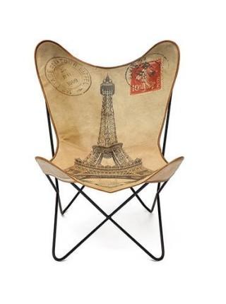 Кресло Secret De Maison PARIS ( mod. 950 ) металл/ткань хлопок, 74х70х91см, натуральный с рисунком