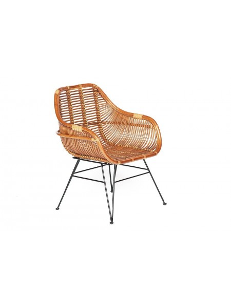Кресло Secret De Maison Pitaya (mod. 01 5089 SP KD/1-1) натуральный ротанг/металл, 80х66х64см, светлый мед/черный