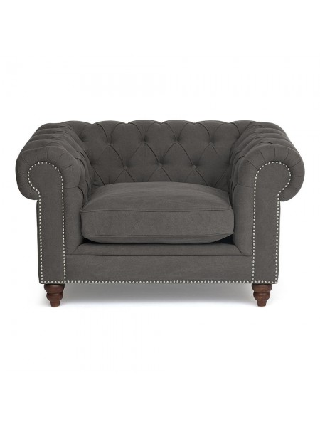 Кресло Secret De Maison Chesterfield (mod. 5137-20) дерево береза, ткань: хлопок, 84х130х97см, серый / AJ808-12