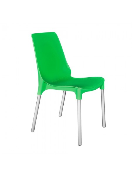 Стул GENIUS (mod 75) металл/пластик, 46x56x84cм, зеленый