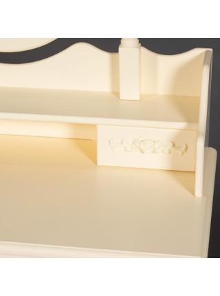 Туалетный столик с зеркалом и табуретом Secret De Maison ARNO ( mod. HX18-263 ) дерево павловния, мдф, 75х40х141см, butter white (слоновая кость)