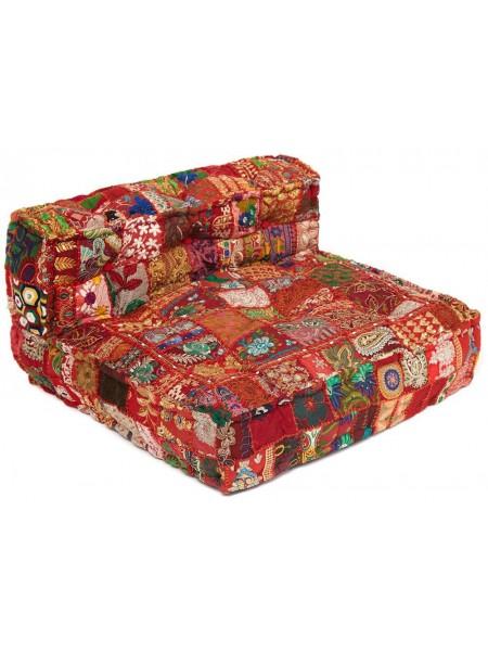 Модуль мягкий со спинкой Secret De Maison GIPSY (mod. MA-100) cotton patchwork, 80х80х43см, этнический красный
