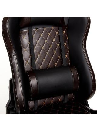 Кресло iChess кож/зам, черный/коричневый