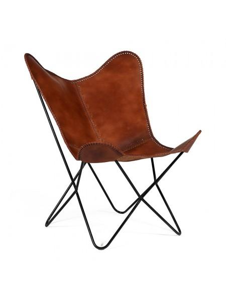 Кресло Secret De Maison NEWTON ( mod. 951 ) металл/кожа буйвола, 75*87*86 см, Античный светлый