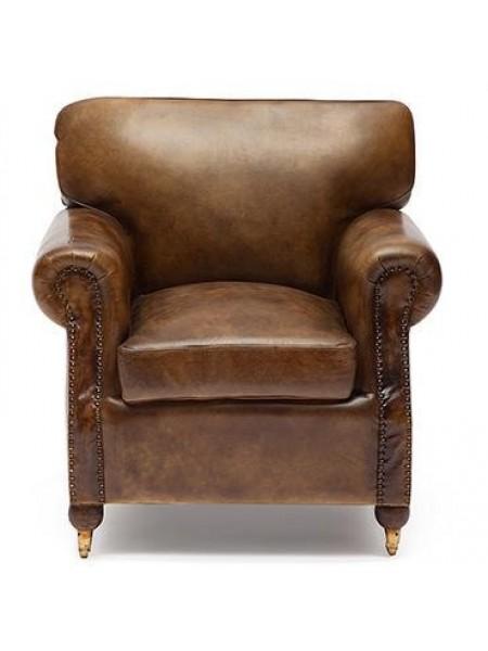 Кресло Secret De Maison BRONCO ( mod. 1192 ) кожа буйвола, 90х86х82см, Античный темный