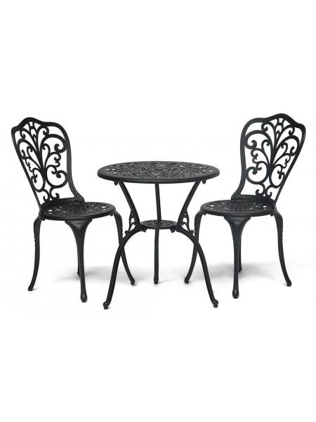 Комплект Romance (стол +2 стула) Черный
