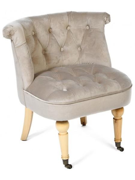 Кресло Secret De Maison Bunny (mod. C102) дерево береза, ткань: вельвет, 76х70х63см, светло-серый