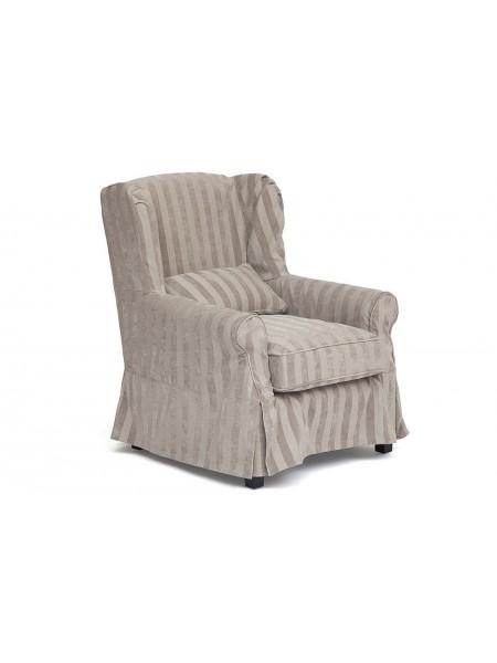 Кресло Secret De Maison Linby (mod. CC1312) дерево береза, ткань: хлопок, 81х87х95см, бежевая полоска
