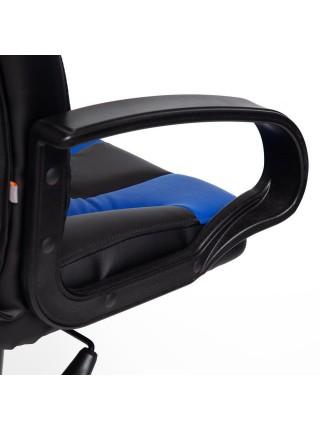 Кресло NEO (1) кож/зам, черный/синий, 36-6/36-39