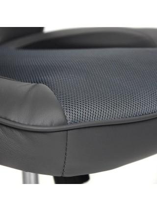 Кресло RACER GT new кож/зам/ткань, металлик/серый, 36/12