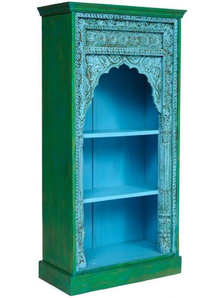Шкаф книжный Secret de Maison Alhambra (mod. 180224) дерево, 84х168х42см, blue patina