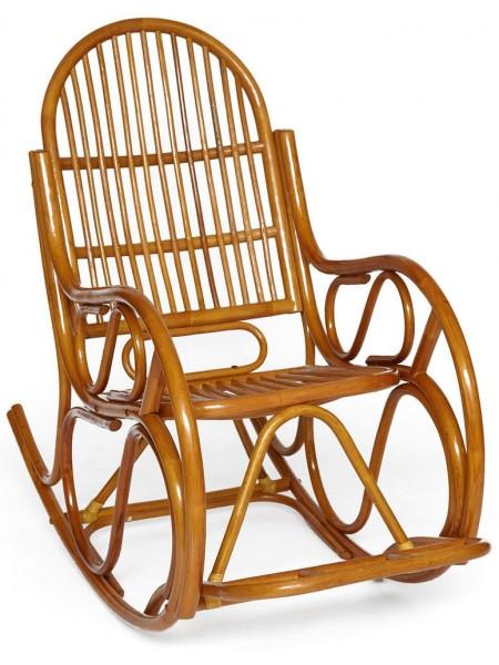 Кресло-качалка VIENNA (разборная) / без подушки / ротанг top quality, 58x133x102 см, Cognac (коньяк)