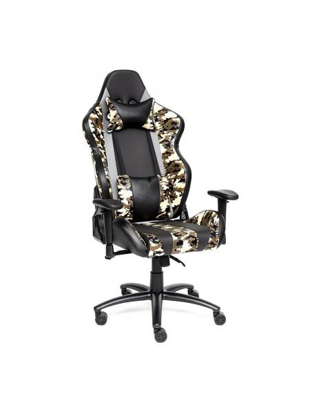 Кресло iBrave кож/зам, черный/хаки