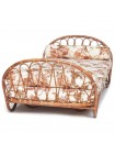 Кровать-софа Secret De Maison Suzane (с матрасом ) (mod. 18 5090 DB SP ) натуральный ротанг, 67х205х104см, светлый мед