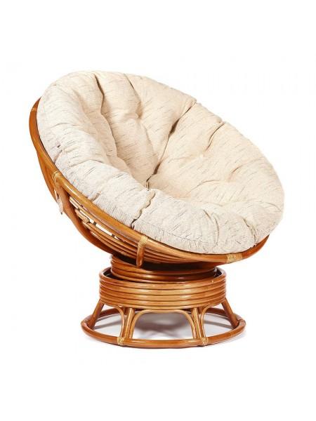 """Кресло-качалка """"PAPASAN"""" w 23/01 B /с подушкой/ Cognac (коньяк)"""