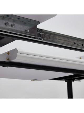 Стол VIRGO (mod.8053) металл/мдф, 120/160х80х76см, белый/черный