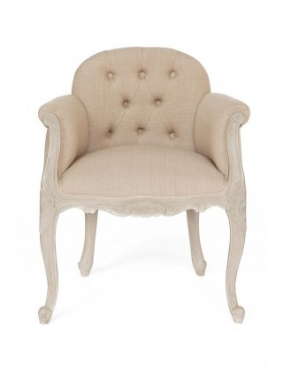 Кресло Secret De Maison FRANCAIS ( mod. CHA 40A ) красное дерево/ткань хлопок, 61*54*73, Натуральный Минди, ткань B.Creme Beige