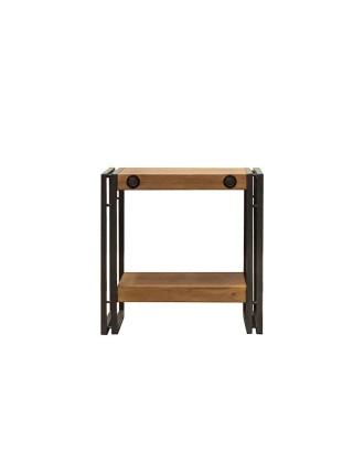 Столик Secret De Maison CITY ( mod. CTY L12 ) металл/дерево, 51х50х50см, коричневый дым (smoke brown B034)