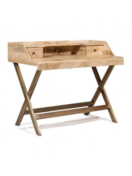Стол бюро Secret De Maison REGENCY ( mod. M-17169 ) металл/натуральное дерево, 108х60х88см, античная медь/натуральный
