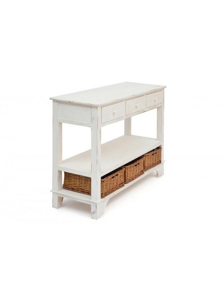 Комод с 3 корзинами и 3 ящиками Secret De Maison OISELET 6 (mod. HX16-005NS ) paulownia, мдф, 108x40x85см, butter white (слоновая кость)