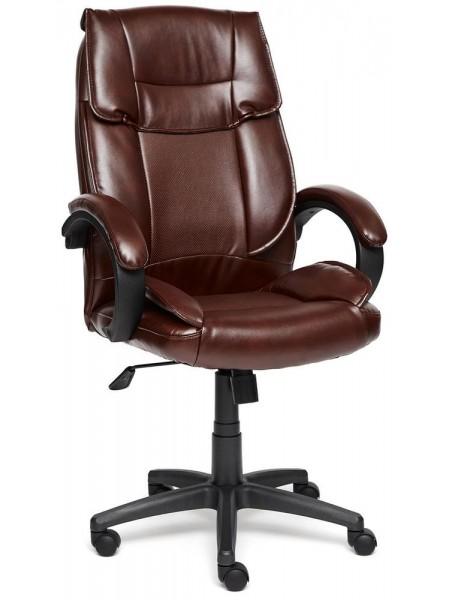 Кресло OREON кож/зам, Коричневый/коричневый перфорированный, 2 TONE/2 TONE/06