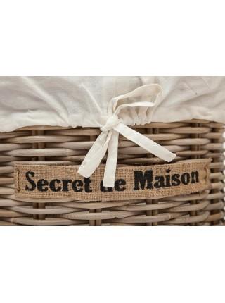 Корзина Secret De Maison Letti (набор из 2 штук) натуральный ротанг, D48*58/D38*49 см, Натуральный Кубу / Natural Kubu