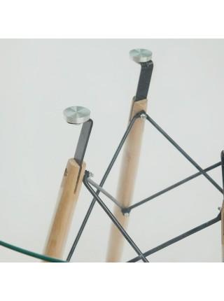 Стол CINDY GLASS (mod.90GLASS) металл/стекло, D90х75см, прозрачный