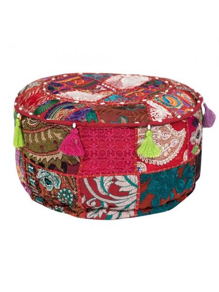 Пуф Secret De Maison GIPSY(mod. 10200) cotton patchwork, D40х20см, этнический красный