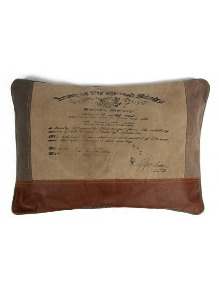 Подушка THOMAS ( mod. M-7043 А ) кожа буйвола/ткань, 60*40
