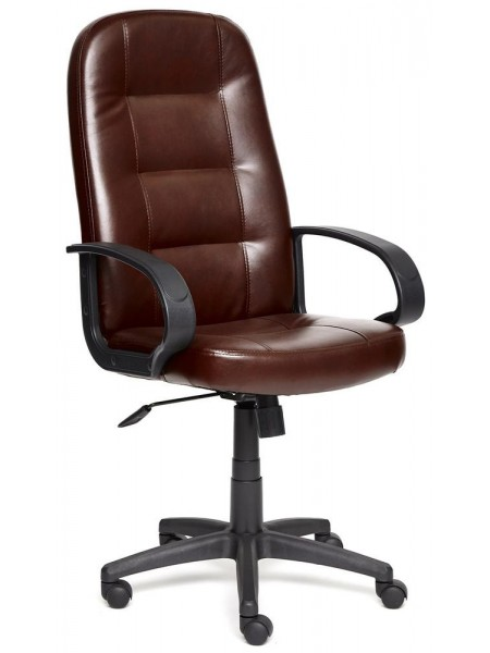 Кресло DEVON кож/зам, коричневый, 2 TONE