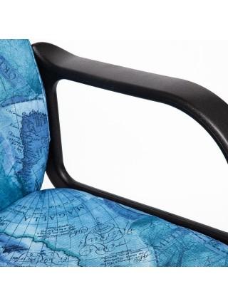 """Кресло LEADER ткань, принт """"Карта на синем"""""""