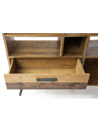 Шкаф книжный Secret De Maison LARGO (mod. LAR L02-Н120) дерево акация, 120х150х35см, brown recycled