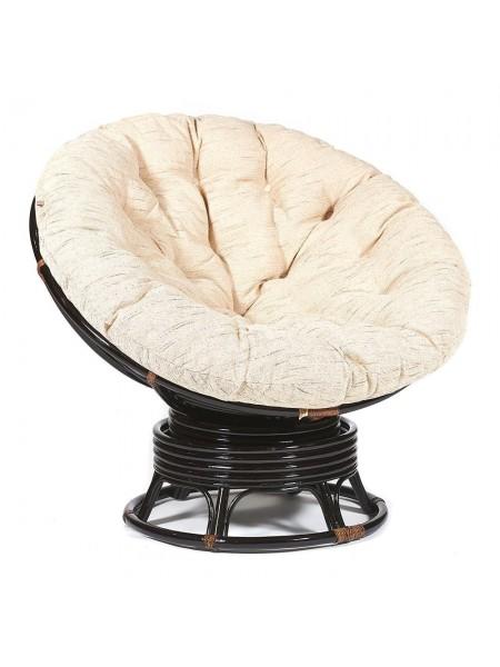 """Кресло-качалка """"PAPASAN"""" w 23/01 B /с подушкой/ Antique brown (античный черно-коричневый)"""