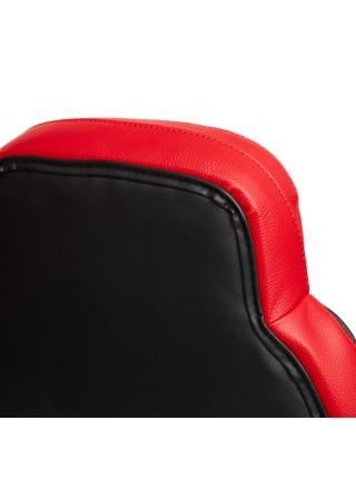 Кресло BAZUKA кож/зам, черный/красный, 36-6/36-6/06/36-161