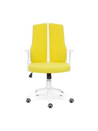 Кресло LITE белый, ткань, зеленый, 102