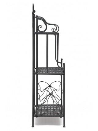 Этажерка Secret De Maison 002 стальной сплав, 59х30х118см, черный
