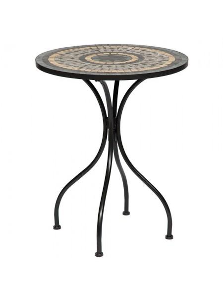 """Стол Secret de Maison ROMEO (mod. PL08-1070-1-GBRN) металл, 60х72см, черный/плитка """"ASTRA"""""""