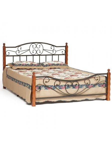 Кровать AMOR (mod. 9226) 160*200 см (Queen bed), Красный дуб
