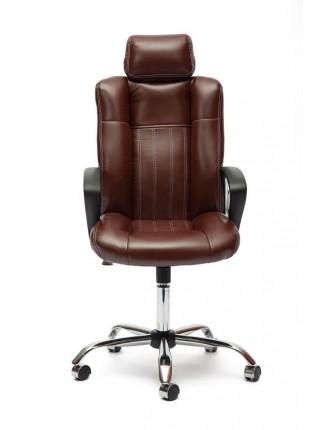 Кресло OXFORD хром кож/зам, коричневый/коричневый перфорированный, 2 TONE/2 TONE /06
