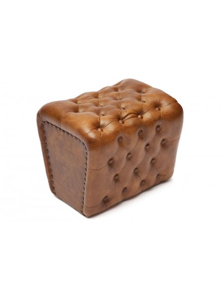 Пуф Secret De Maison CHESTER ( mod. 4311 ) кожа буйвола, 43 х 33 х 37, Античный светлый
